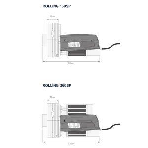 Motor para Puertas Enrollables KIT ROLLING 360 SP medidas