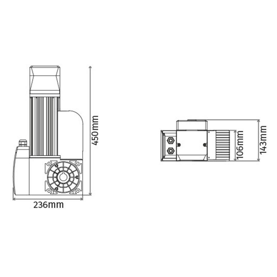 Motor para puerta Seccional de hasta 25 m² en KIT KVM 50 medidas