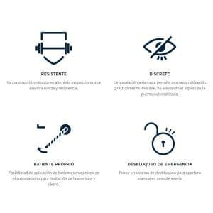 Motor para Puertas Abatibles en KIT SUBWING 700 características
