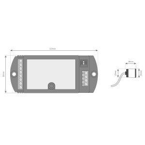 Kit de Minifotocélulas con Central KCR10MS medidas