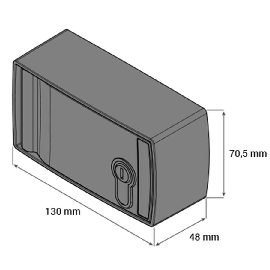 Caja de Seguridad para Desbloqueo Exterior CSV100 medidas