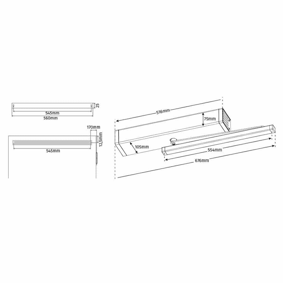 Automatismo para Puertas Abatibles M1805 medidas