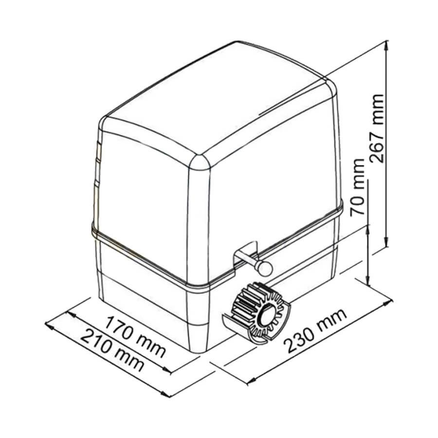 PRO08693 kit motor puerta corredera alfa 600 02