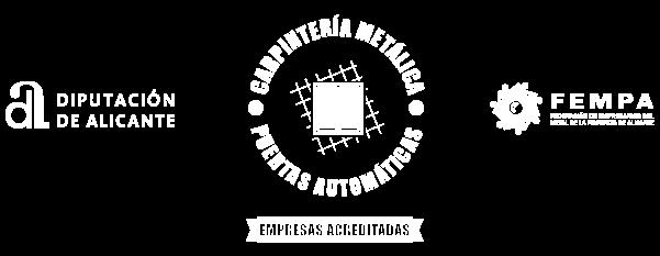 empresa acreditada por FEMPA en puertas automáticas y carpintería metálica