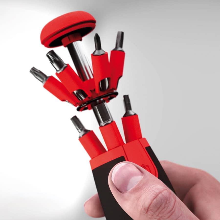 Destornillador con Cargador LiftUp 26one® en Surtido con 13 Puntas Dobles detalle 1