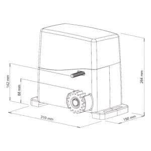 Motor pata Puerta Corredera en Kit SIGMA 1600 medidas