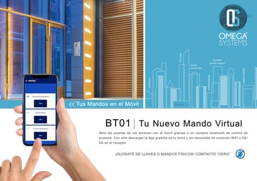 Folleto control de accesos a distancia por bluetooth BT01