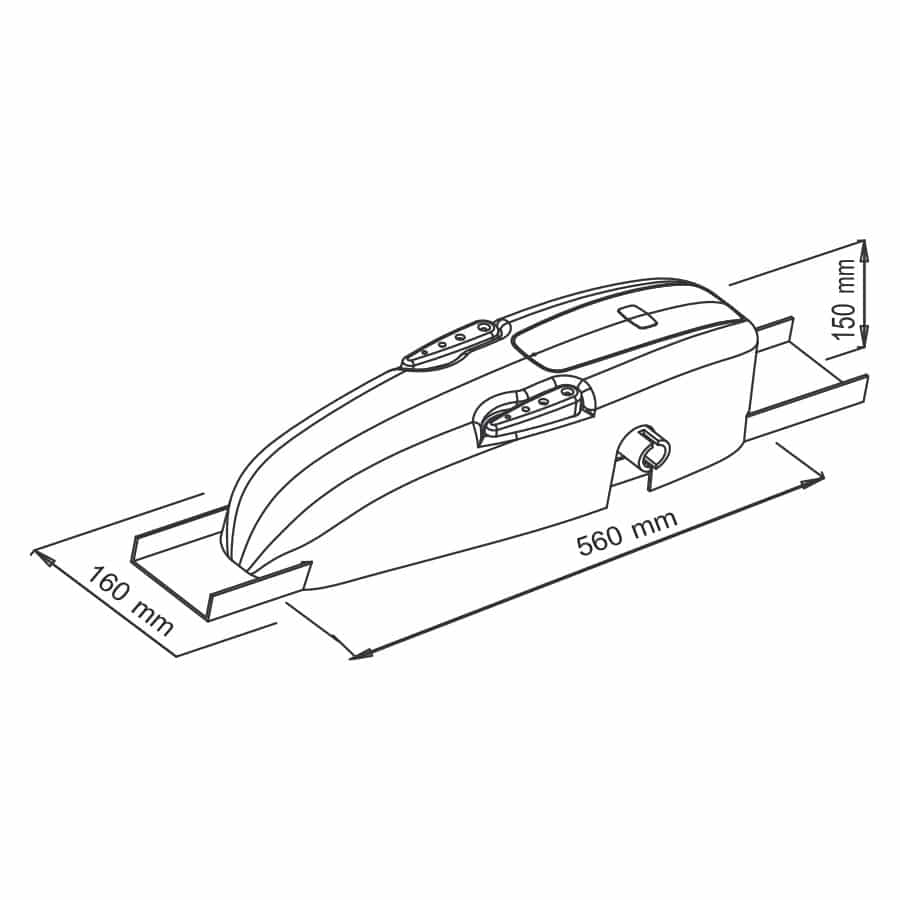 Motor para Puerta Basculante con Contrapeso en KIT KVM75 medidas