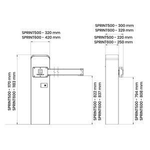 Barrera para Control de Accesos de Vehículo en KIT LIMIT500 medidas