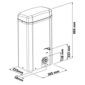 Motor para Puerta Corredera en KIT SLIDER 5000 medidas