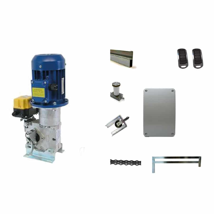 Motor para Puerta Basculante con Contrapeso en KIT BASCULANTE 230V GUIA 3/6 METROS