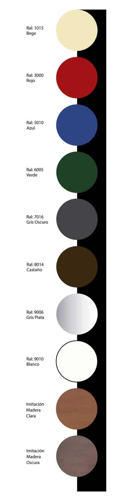 colores puertas seccionales completas