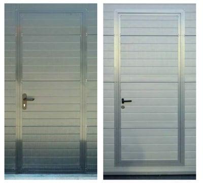 puerta peatonal con zócalo reducido para puertas seccionales para garajes