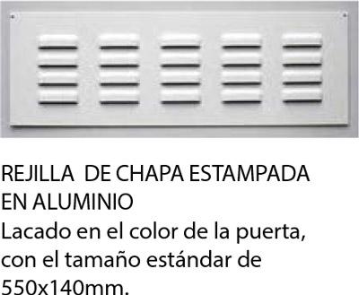 rejilla de ventilación de chapa de aluminio estampada para puertas seccionales para garajes