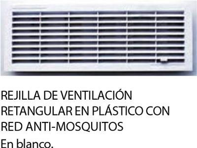 rejilla de ventilación con mosquitera para puertas seccionales para garajes