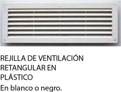 rejilla de ventilación en plástico para puertas seccionales para garajes