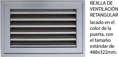 rejilla de ventilación para puertas seccionales para garajes