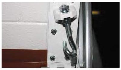 soporte de cable para puertas seccionales
