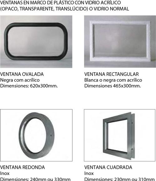 tipos de ventanas para puertas seccionales