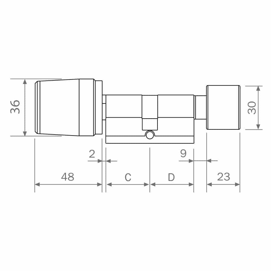 Cerradura Electrónica LIBRA SMART medidas