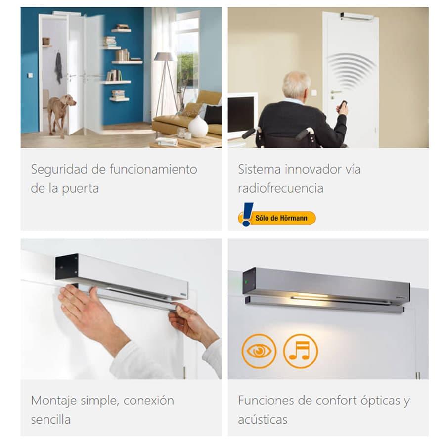 Apertura de Puertas Interiores Automáticas PortaMatic detalles