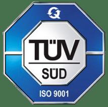 UNI EN ISO 9001:2015 certificado por Tüv SüD