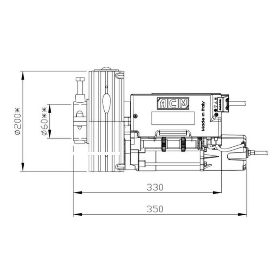Motor para Persianas Metálicas ROLLING ACM Unititan E HR - esquema